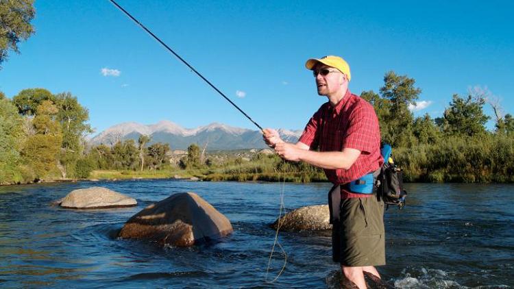 Fishing on the Rio Grande River